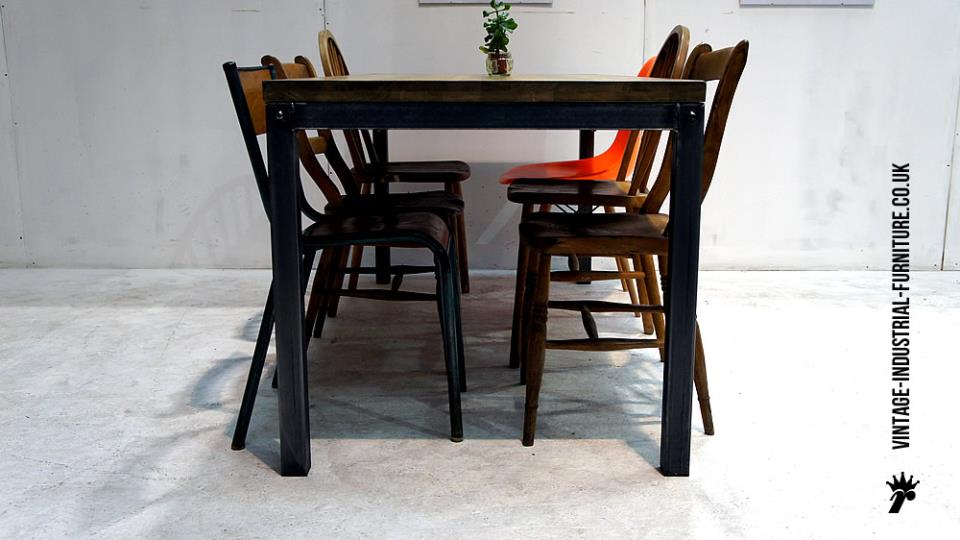 Modern Vintage Oak Dining Table