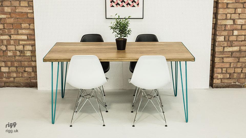 Small hairpin dining table