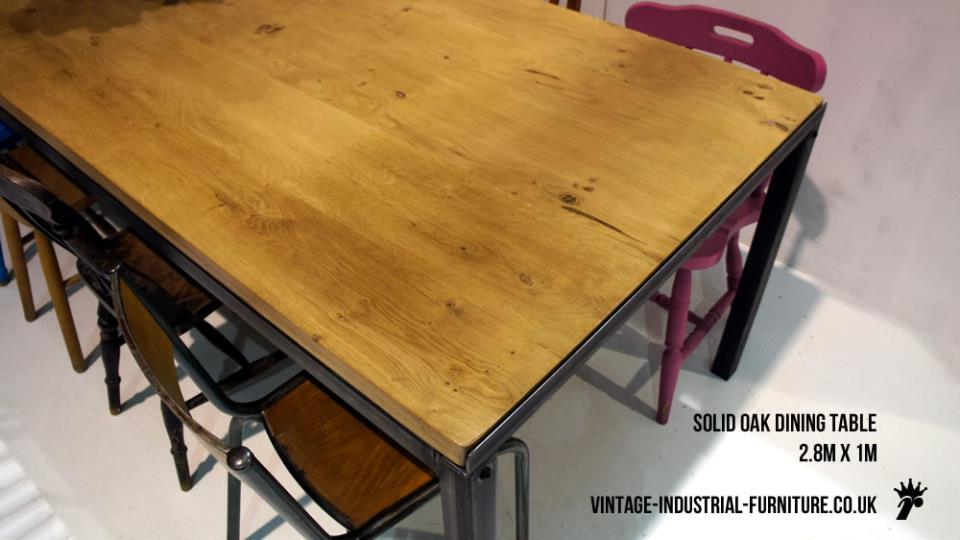 Solid Oak Vintage Dining Table
