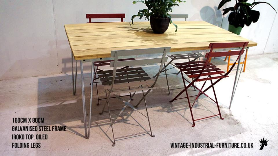 Vintage Industrial Garden Table