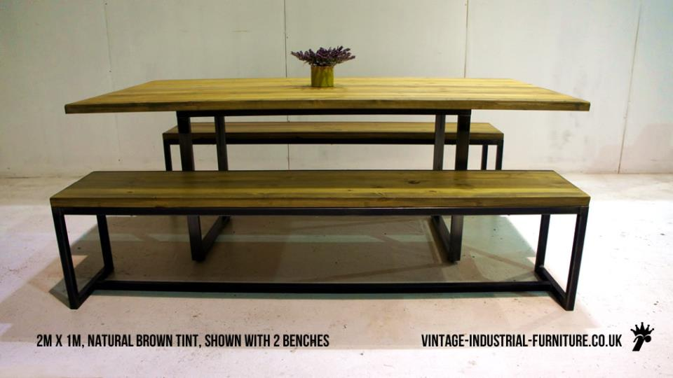 Vintage Industrial Square Loop Dining Table