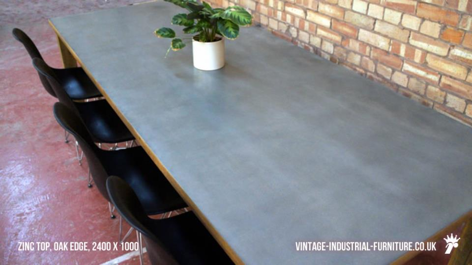 Vintage Zinc Dining Table