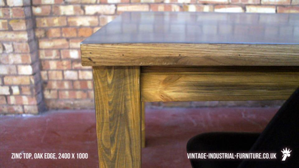 Zinc and Wood Table