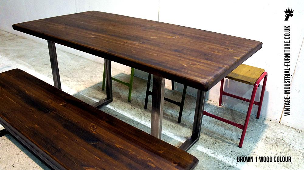 Industrial Loop Leg Dining Table : vintageindustrialdiningtabledarkwood from vintage-industrial-furniture.co.uk size 1000 x 562 jpeg 130kB
