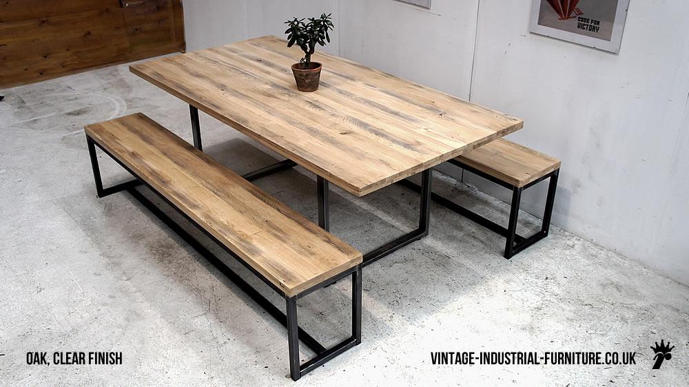 Industrial Loop Leg Dining Table : vintageindustrialdiningtablelightoaktop from vintage-industrial-furniture.co.uk size 1000 x 562 jpeg 139kB