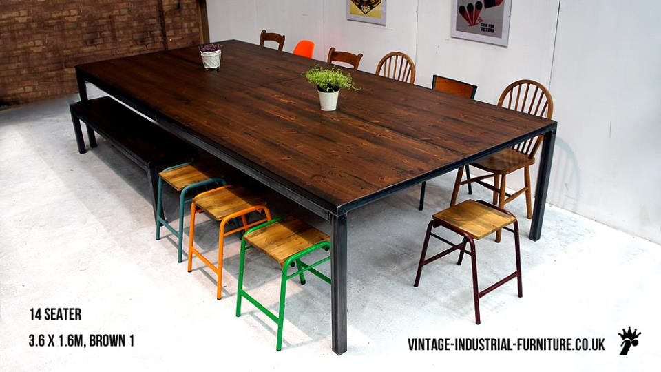 Large Vintage Boardroom Table
