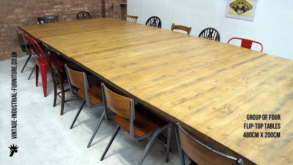 Industrial Style Stacking Meeting Table