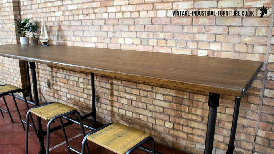 Large Industrial Table Metal Legs
