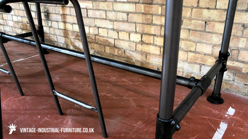 Large Vintage Industrial Bar Table