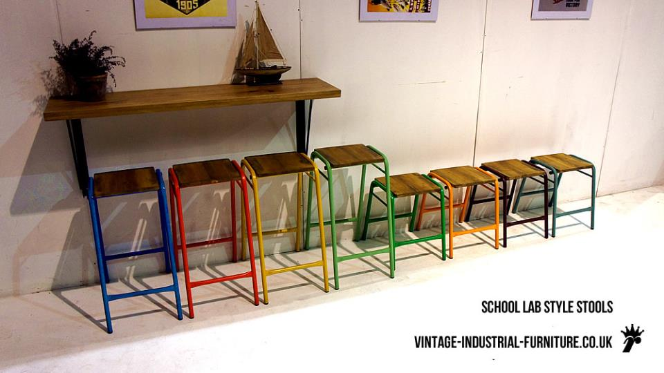 Metal Frame High Stools