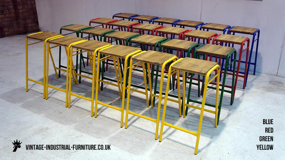 Old School Stools Coloured