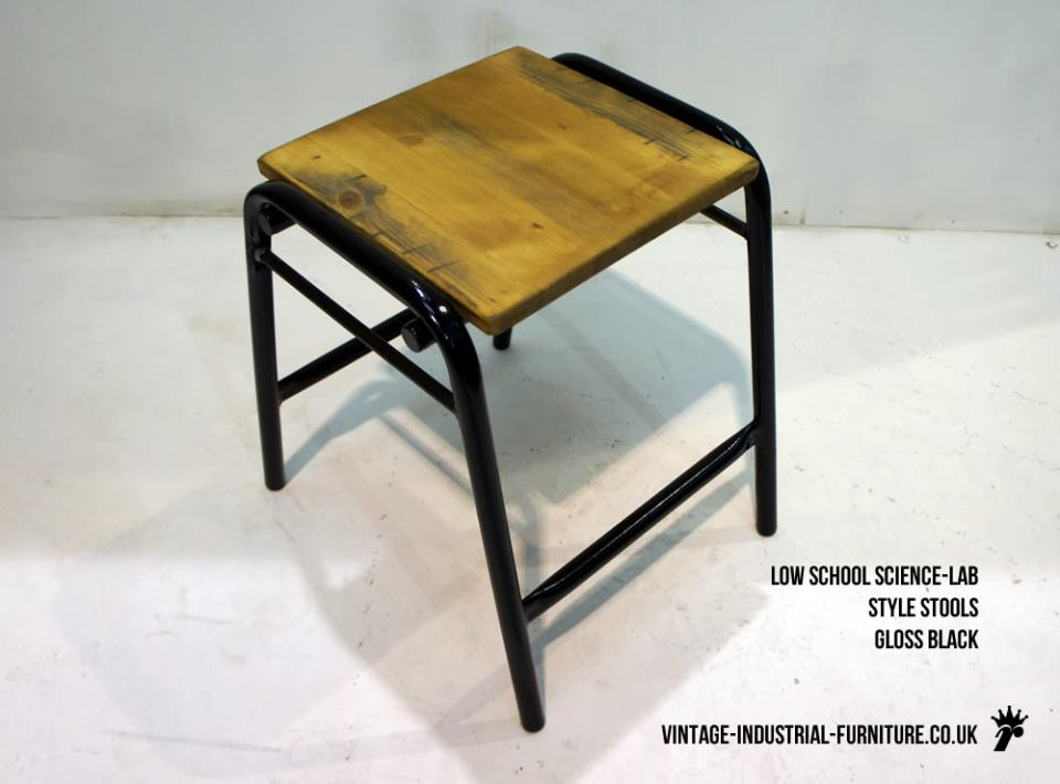 Vintage Low School Stool