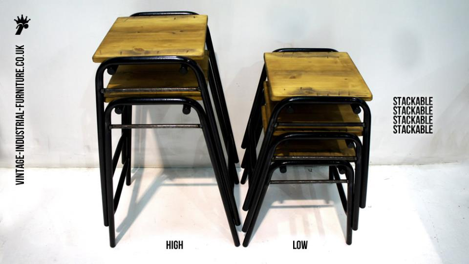 Vintage Stacking Stools